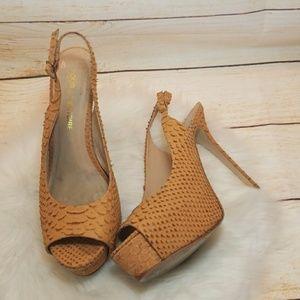 Pour La Victoire platform peep slingback heels 8